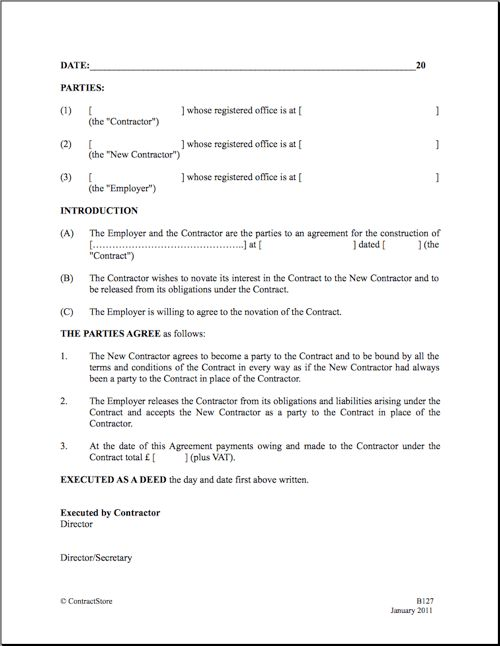 13 Best Images of Construction Contract Agreement One Page ...