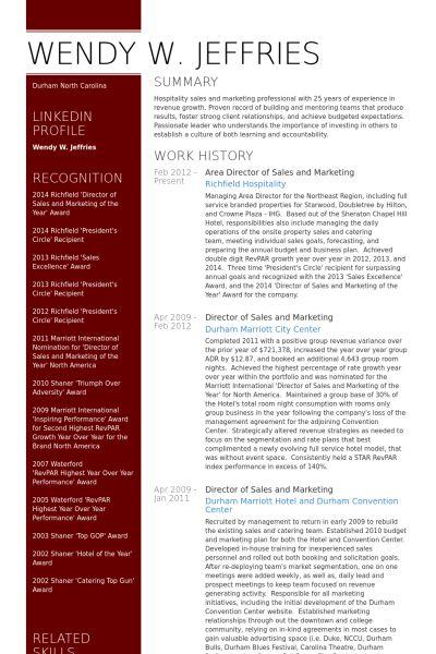 Sales And Marketing Resume samples - VisualCV resume samples database