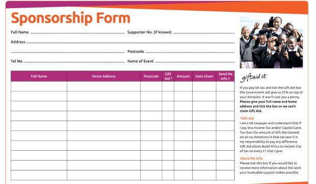 Sponsorship Form. Chris Brace Is Fundraising For Bloodwise ...