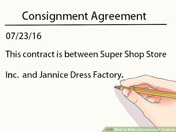Sample Consignment Agreement Template. Consignment Agreement ...