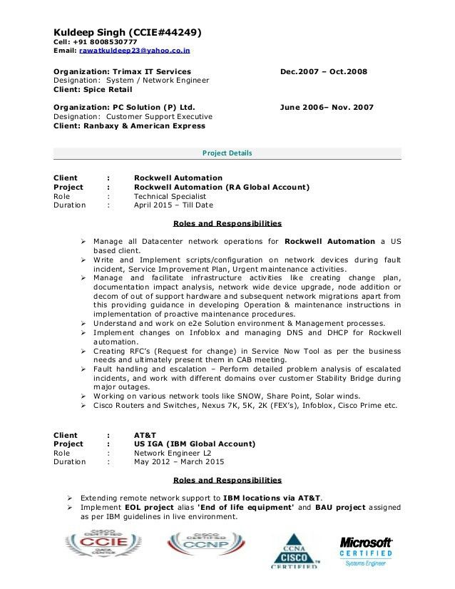Kuldeep Resume (CCIE-Data Center)