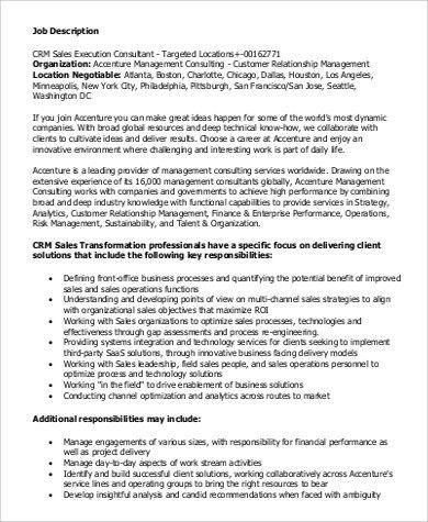 Sales Consultant Job Description Sample - 9+ Examples in Word, PDF