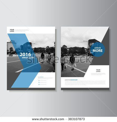 Minimal Simple Blue annual report Leaflet Brochure Flyer template ...