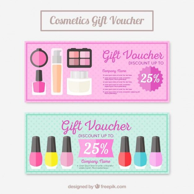 Make-up Products Coupons Vector | Free Download