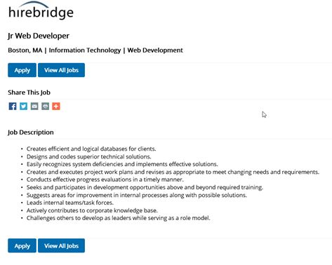Applying For A Job as a Job Seeker/Applicant : Hirebridge