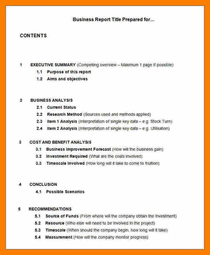 6+ examples of business report | science-resume