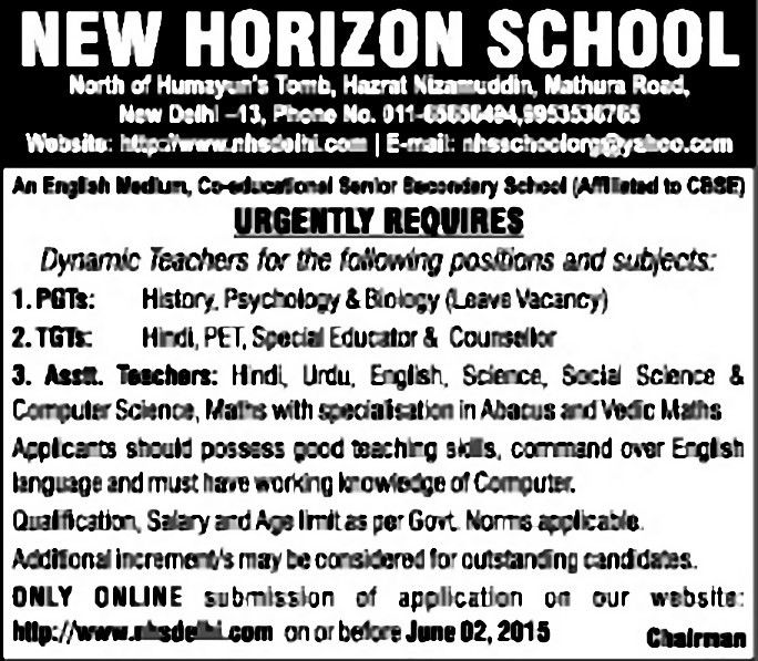 Job - Post Graduate Teacher - New Delhi - Learning & Library ...