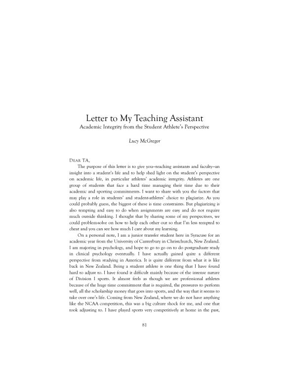 Instructional Assistant Cover Letter