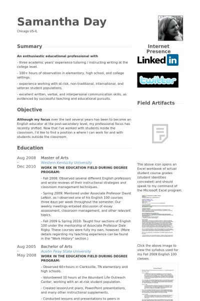Graduate Teaching Assistant Resume samples - VisualCV resume ...