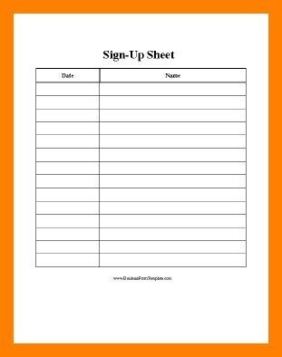 10+ sign in sheet template word | simple cv formate