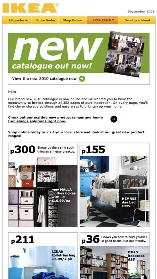 Email Newsletter Design: Guidelines And Examples | Marketing Blog ...