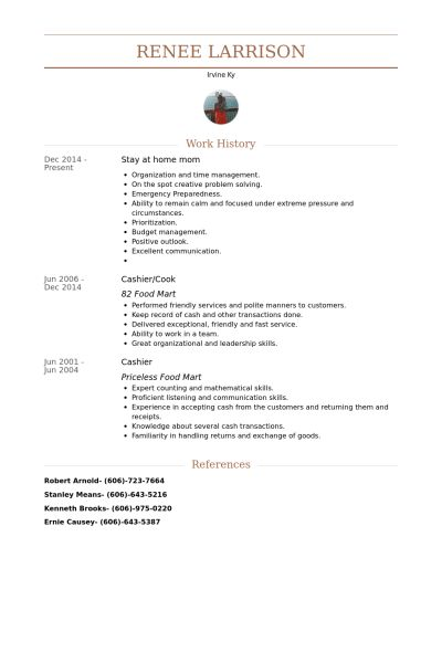 Stay At Home Mom Resume samples - VisualCV resume samples database