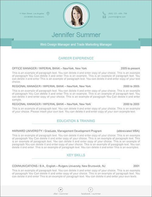 27 best Modern Resume Templates images on Pinterest | Resume ...
