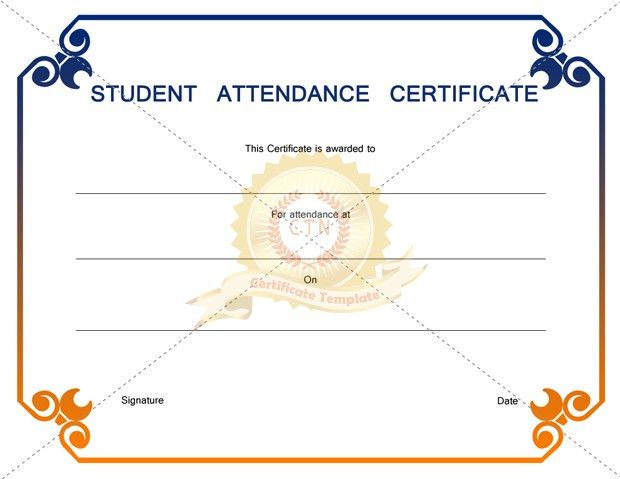 Student Award Certificate Template for Best and Outstanding Students