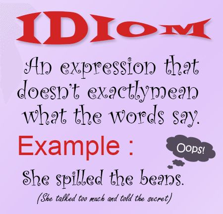 Idioms - Definition, Common Idioms & Examples | English@TutorVista.com