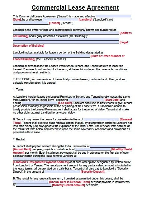 Free New Jersey Commercial Lease Agreement – PDF Template