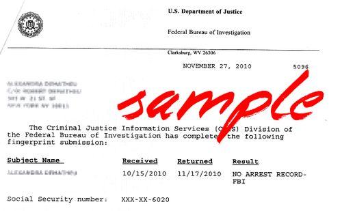 Fbi Cover Letter