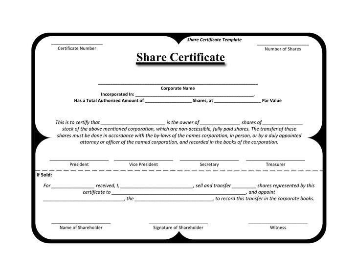 Stock Certificate Template | Download Free & Premium Templates ...