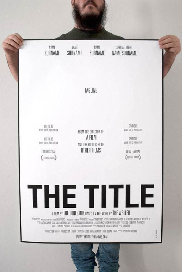 How To Make A Movie Poster: A Template For Students. Possibility ...
