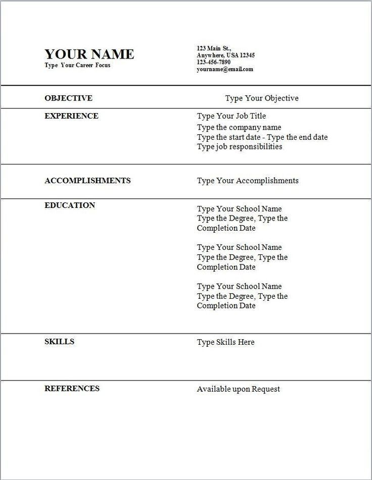 Resume Outline Example. Resume Template B&W Executive Executive ...