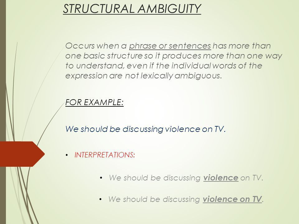 APPLIED LINGUISTICS AMBIGUITY. LOOK AT THIS: WHAT IS AMBIGUITY? A ...