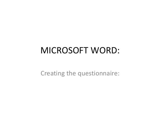 Microsoft word and excel explanation