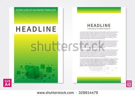 Vector Flyer Poster Leaflet Annual Report Stock Vector 328614479 ...