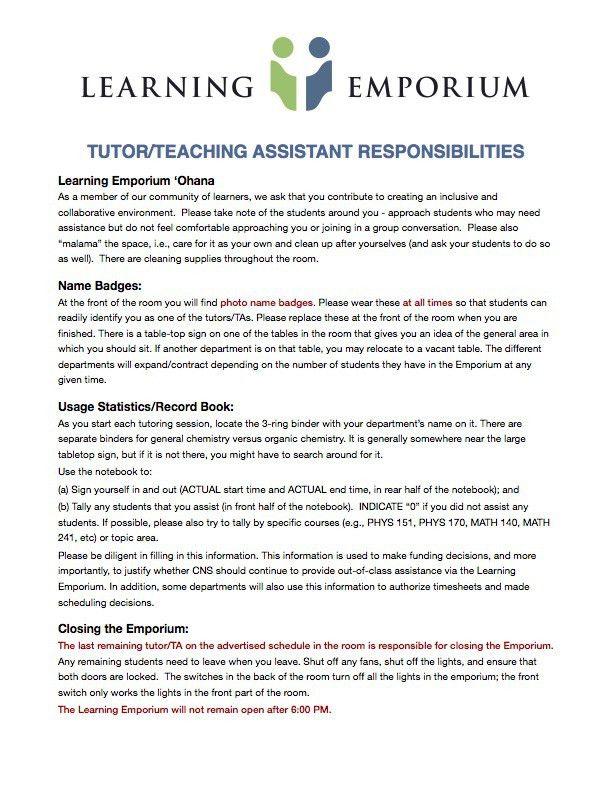 Tutor Tutorials | College of Natural Sciences