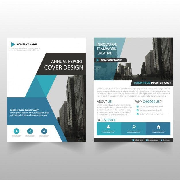Business brochure template with geometric shapes Vector | Free ...