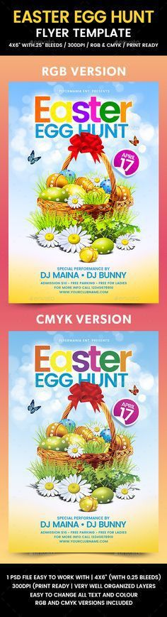 Easter Egg Hunt Flyer | Fonts-logos-icons | Pinterest | Party ...