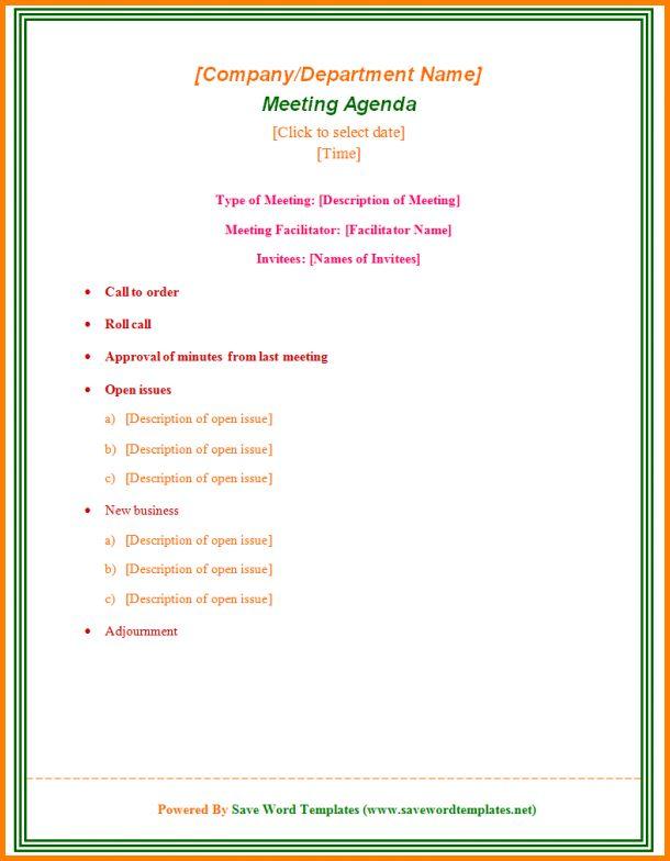 Meeting Agenda Format.Formal Meeting Agenda Template 600×774.png ...
