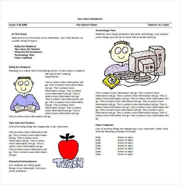 Word Newsletter Template – 31+ Free Printable Microsoft Word ...