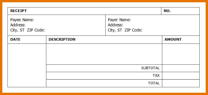 5+ microsoft word receipt template | Itinerary Template Sample