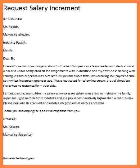 Pay Raise Letter Template | Cvletter.billybullock.us