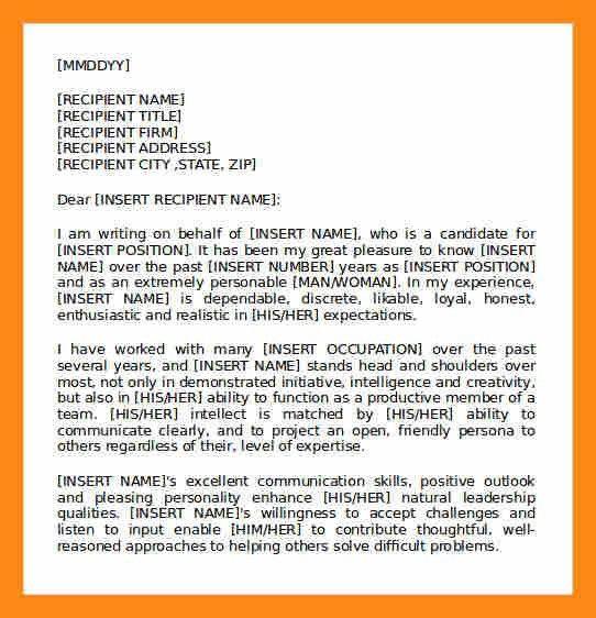 4+ testimonial letter sample | actor resumed