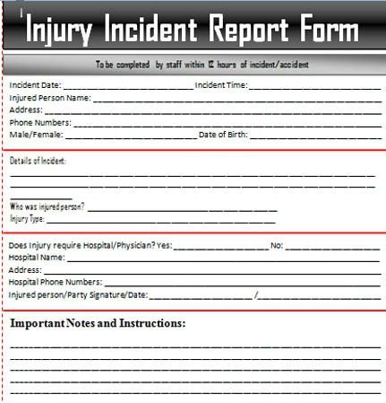 Sample Incident Report Letter Word – Excel Templates | ExcelTemp ...