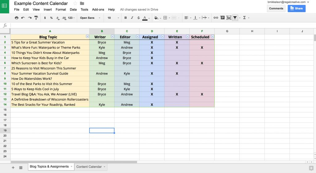 3 Free & Easy Ways to Make a Company Content Calendar