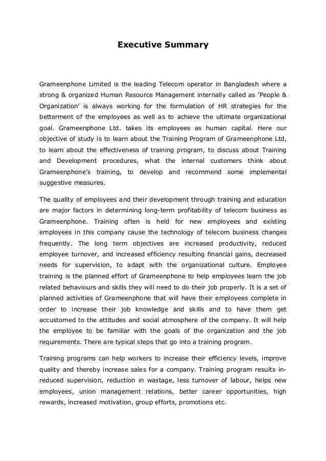 Training Program & its Effectiveness in Customer Service of Grameenph…