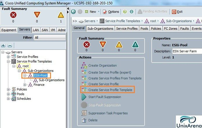 How to Create Service Profile Template on Cisco UCS ? - UnixArena