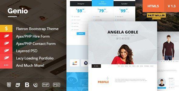 Genio. OnePage Resume, Personal Portfolio Template by krazicode ...
