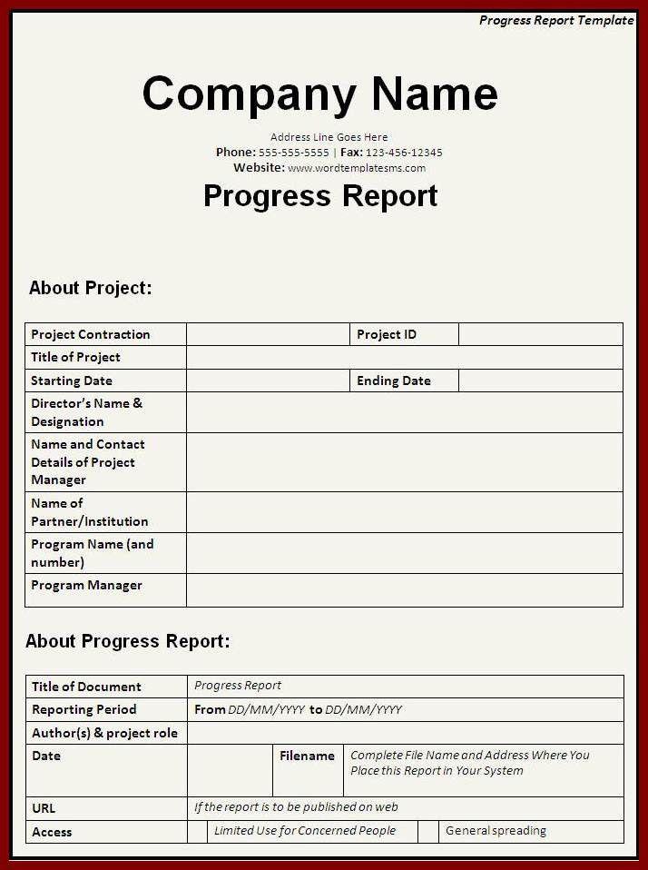 14 Construction Progress Report Template | sendletters.info