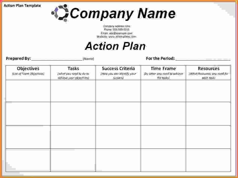 Plan Of Action Template. Action Plan Templates Free Action-Plan ...