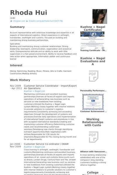 Service Coordinator Resume samples - VisualCV resume samples database