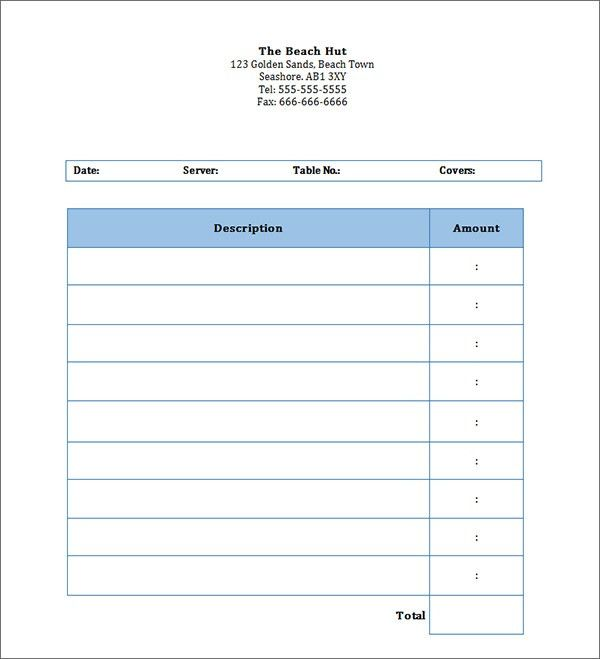 Personal Invoice Template Word | invoice example