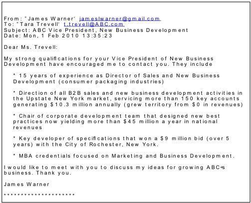 Email Resume Sample [Template.billybullock.us ]