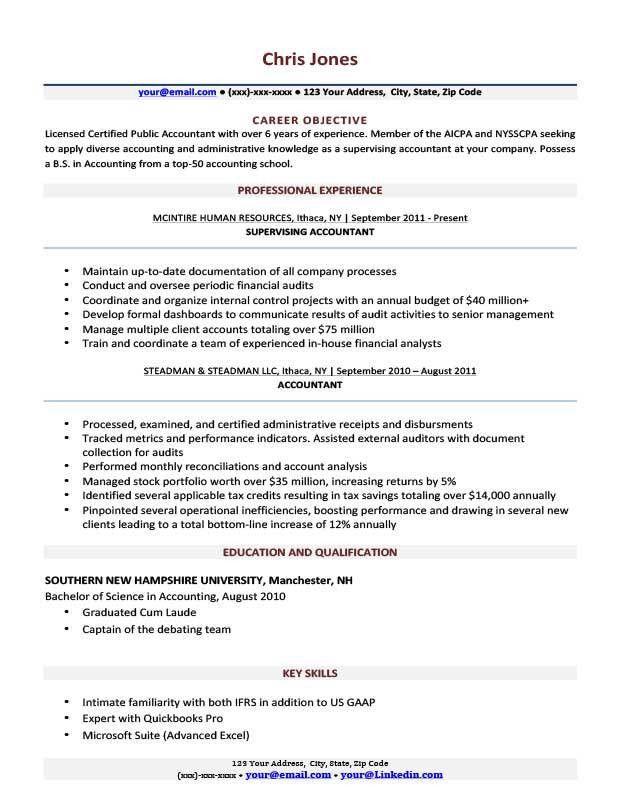 Basic Resume Templates | Browse, Download, Print | Resume Companion