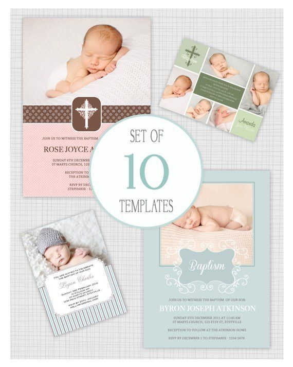 Christening Invitation Template Psd Free Download | Battesimo ...