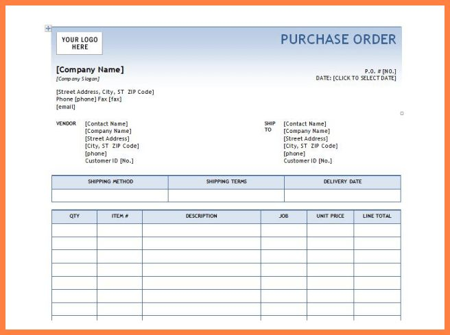 7+ microsoft excel purchase order template | Purchase Agreement Group