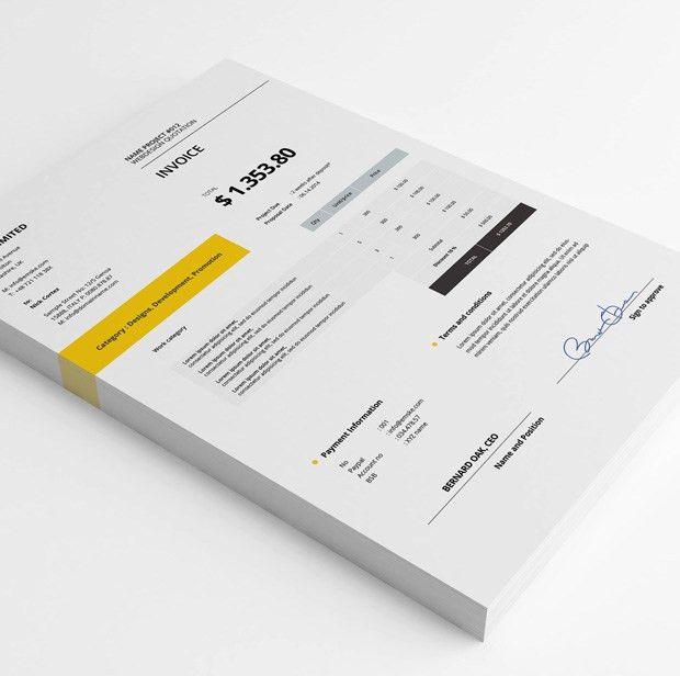 Creative Invoice Template (.psd & .xlsx)