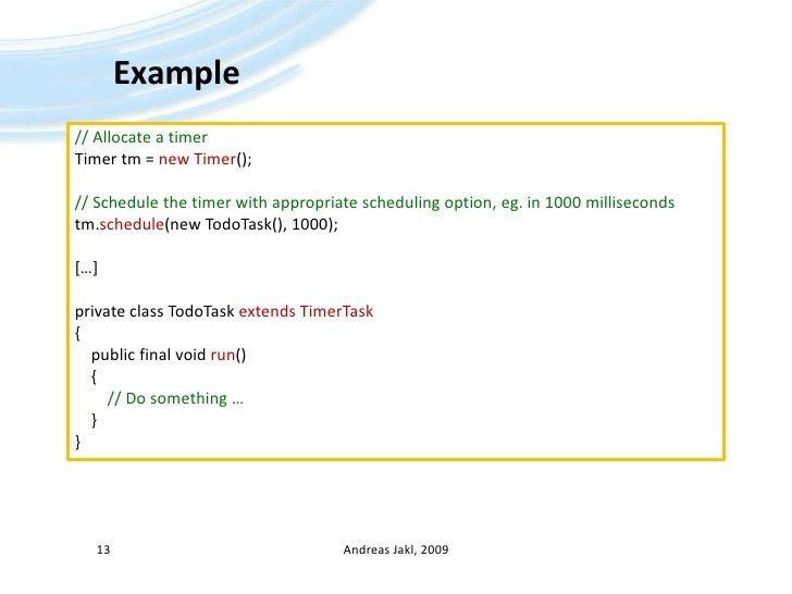 Java ME - 04 - Timer, Tasks and Threads